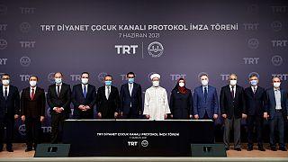 """""""TRT Diyanet Çocuk Kanalı""""nın kurulması için ilk adım atıldı"""