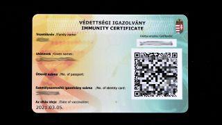 2021. március 19.  - magyar védettségi igazolvány