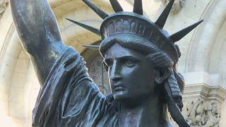 Replica of the Statue of Liberty in the courtyard of the CNAM (Conservatoire National des Arts et Métiers)
