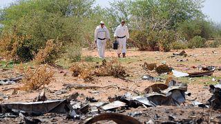 حطام للطائرة التي استأجرتها الخطوط الجزائرية مع طاقمها من شركة إسبانية، وتحطمت خلال رحلتها بين واغادوغو والعاصمة الجزائرية في 2014  في شمال مالي وعلى متنها 110 ركاب
