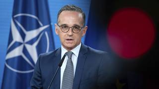 Heiko Maas, Foreign Minister, speaks ahead of the North Atlantic Council meeting at the Federal Foreign Office in Berlin, Germany, Tuesday, June 1, 2021.