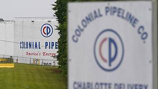 L'entrée de la Colonial Pipeline Company à Charlotte, en Caroline du Nord.