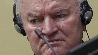 Ratko Mladic at the UN's Yugoslav war crimes tribunal in The Hague, Netherlands