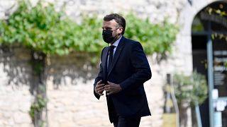 Photo d'illustration : Emmanuel Macron en visite à Martel - département français du Lot -, le 3 juin 2021