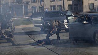 Europol'da tatbikat görüntüleri