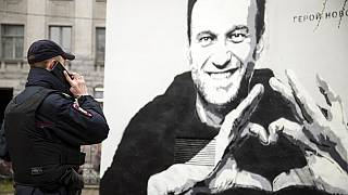 Graffiti Alexej Nawalny in St. Petersburg, Russland