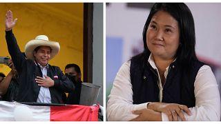 Peru: Presidential candidate Pedro Castillo and Presidential candidate Keiko Fujimori