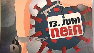 NEIN-Kampagne gegen das Covid-Gesetz in der Schweiz von MASS-VOLL