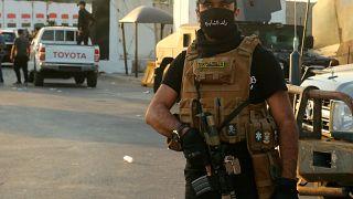 قوات الحشد الشعبي تحيط بالمنطقة الخشراء في بغداد. 20021/05/26