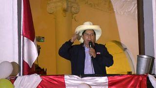 Pedro Castillo se dirige a sus seguidores en Lima