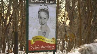 Ausstellungsposter bei Schloss Moritzburg