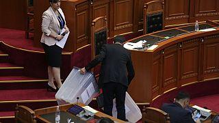Im Parlament von Albanien in Tirana