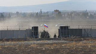 قوات روسية تدخل سوريا للقيام بدوريات مشتركة مع القوات التركية في سوروش جنوب شرقي تركيا. 2019/11/05