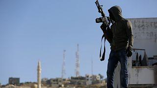 Palesztin fegyveres Dzseninben (tavalyi felvétel)