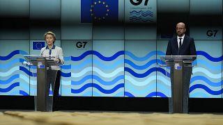 Rueda de prensa de los líderes europeos previa a la Cumbre del G7