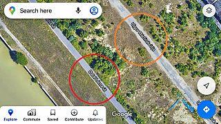 Képernyőfotó a Google Maps-en látható változásokról