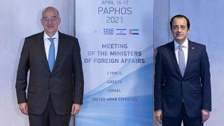 Οι Υπουργοί Εξωτερικών Ελλάδας και Κύπρου