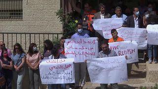 احتجاجت الطواقم الطبية - فلسطين