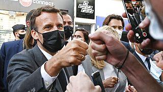 Emmanuel Macron in der Drôme in Südfrankreich
