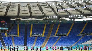 Italiens Fußball-Nationalmannschaft trainiert im Olympiastadion in Rom