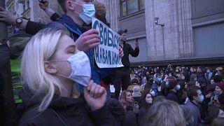 Protesta contra el Gobierno ruso