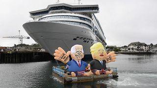 Merkels Lammhack - die kreativsten G7-Protestaktionen
