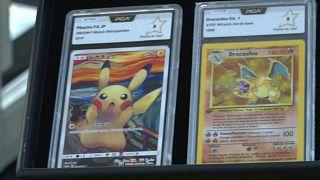 بطاقات بوكيمون نادرة تعرض للبيع في مزاد بباريس - فرنسا