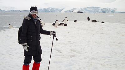Arctic Angel Divya Nawale witnessed snow for the first time when visiting Antarctica.