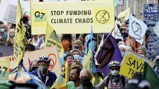 """""""Gierige Lügner"""" - Proteste gegen G7"""