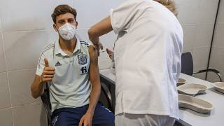 Spain players vaccinated three days before first match