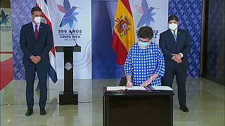 Firma de un acuerdo de cooperación entre España y Costa Rica
