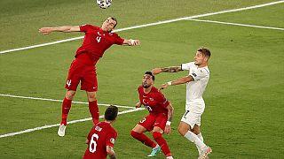 , A Milli Takım ile İtalya milli takımı Roma şehrindeki Olimpiyat Stadı'nda karşı karşıya geldi