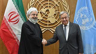 BM Genel Sekreteri Antonio Guterres ile İran Cumhurbaşkanı Hasan Ruhani