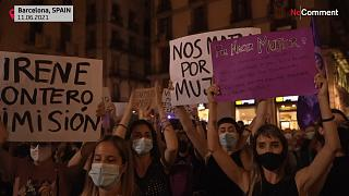 Women protest in Spain
