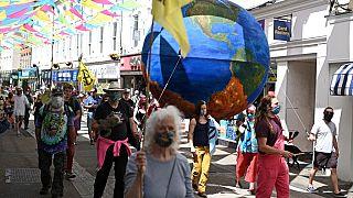 G7 και διαδηλώσεις για την κλιματική κρίση στην Κορνουάλη