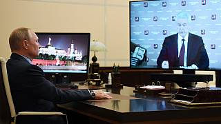 Başkan Putin ile Sergey Sobyanin görüşmesi (Arşiv)