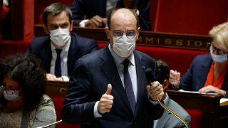 رئيس الوزراء الفرنسي جان كاستيكس يتحدث خلال جلسة أسئلة للحكومة في الجمعية الوطنية في باريس، 8 يونيو 2021