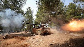 بلدة الغزاوية السورية، بالقرب من عفرين بريف حلب الشمالي، 28 تموز 2020