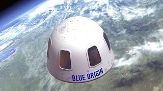 Cápsula con la que Blue Origin quiere llevar turistas al espacio