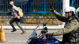 موتورسواری رئیسجمهوری برزیل به همراه هوادارانش