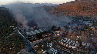 Moria kampında geçen yıl çıkan yangın