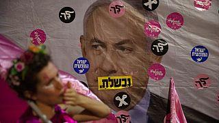 Netanyahu karşıtı protesto