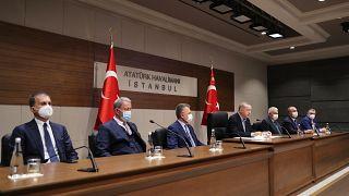 Cumhurbaşkanı Erdoğan NATO Zirvesi öncesi açıklamalarda bulunuyor