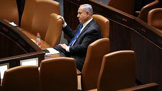 بنیامین نتانیاهو در جلسه روز یکشنبه ۱۳ ژوئن کنست