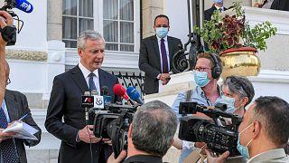 Fransa Maliye Bakanı Bruno Le Maire, Kahire'de