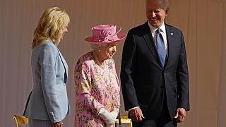 II. Erzsébet Joe Bident és Dr. Jill Bident fogadta Windsorban