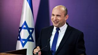 Naftali Bennett, Israeli parliament member from the Yamina party, gives a statement at the Knesset, Israel's parliament, in Jerusalem, June 6, 2021.