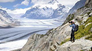 Archivfoto Schweizer Gletscherlandschaft