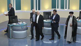 Los principales candidatos a las presidenciales iraníes tras el debate del sábado
