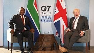 """South African president Ramaphosa """"pleased"""" with G7 vaccines """"support"""""""